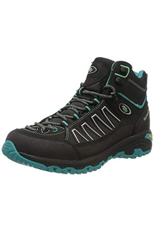 Bruetting Women's Mount Meloni High Rise Hiking Shoes, (Schwarz/Türkis Schwarz/Türkis)