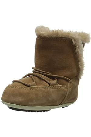 Moon-boot Unisex Kids Crib Suede Snow Boots, (Whiskey 001)