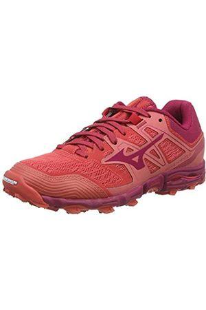 Mizuno Women's Wave Hayate 6 Trail Running Shoes, (Cayenne/Cherriesjubilee 62)