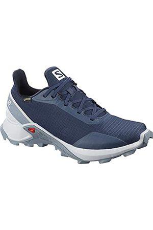 SALOMON Women's Trail Running Shoes, ALPHACROSS GTX W, Colour: (Sargasso Sea/Pearl /Flint Stone)