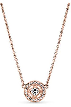 Pandora Women Plated Pendant Necklace - 380523CZ-45