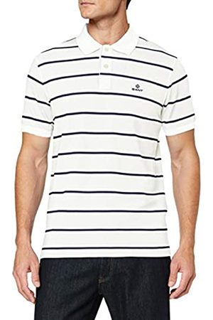 GANT Men's Breton Stripe Pique Ss Rugger Polo Shirt