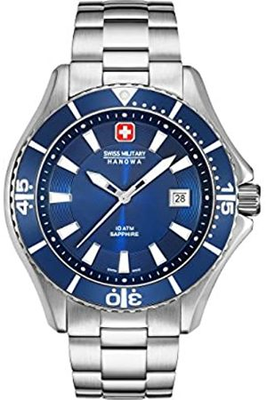 Swiss Military Hanowa Mens Analogue Quartz Watch with Stainless Steel Strap 06-5296.04.003
