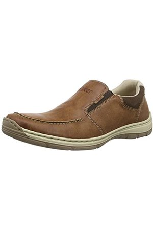 Rieker Men's 15260 Loafers, (Peanut/Cigar/Chalk)