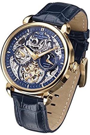 Carl von Zeyten Men's Analogue Automatic Watch with Leather Strap CVZ0005GBL