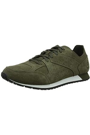 Timberland Hombre Lufkin Oxford Zapatillas Bajas, Verde (Dark Suede)