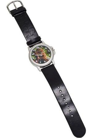 STAR WARS Joy Toy 26298 Chewbacca Chrome Housing Oval Shaped Dial Analog Wrist Watch in Gift Wrap