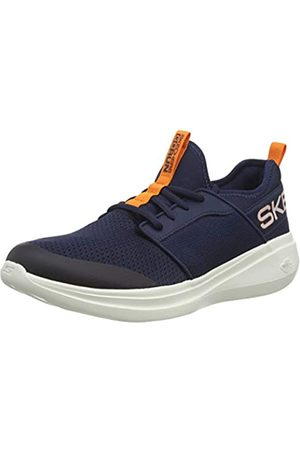 Skechers Men's GO Run Fast Steadfast Slip On Trainers, (Navy Textile/ Trim Nvor)