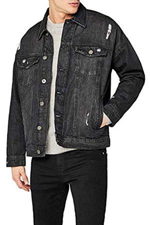Urban classics Men's Ripped Denim Jacket