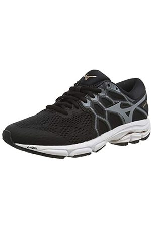 Mizuno Women's Wave EQUATE 4 Running Shoes, (Blk/Monument/Champagn 37)