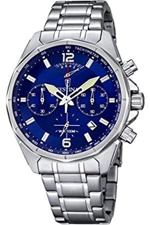 Festina Men's Quartz Watch with Dial Chronograph Display and Stainless Steel Bracelet F6835/3