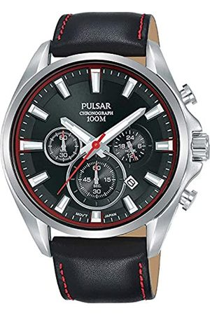 Pulsar Men's Analogue Quartz Watch with Leather Strap 8431242963679