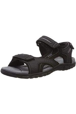 Geox Men's Uomo Sandal Strada D Open Toe, ( /Stone C9310)