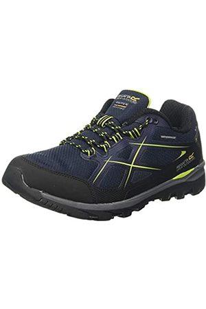 Regatta Men's Kota II Low Waterproof Hiking Shoe Rise Boots, (Navy/Lime 9lt)