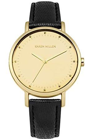 Karen Millen Women's Quartz Watch with Dial Analogue Display and Leather Strap KM139BG