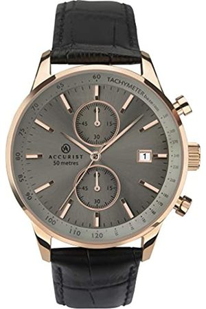 Accurist Mens Analogue Classic Quartz Watch with Leather Strap 7228