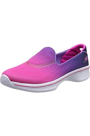 Skechers Go Walk 4- Sporty Starz, Girls' Low-Top, (Hot / )