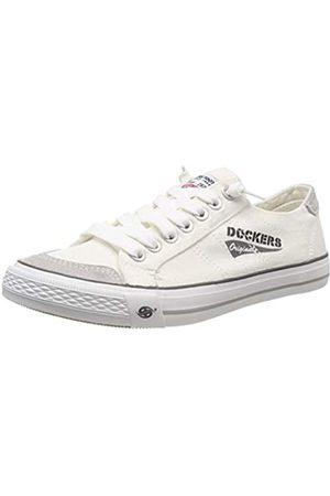 Dockers Men's 30st027-790500 Low-Top Sneakers, (Weiss 500)