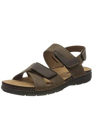 fischer Men's Mario Closed Toe Sandals, (Tabak 706)