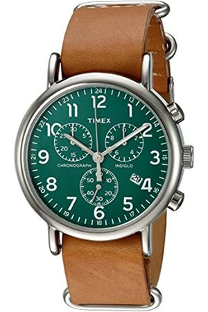Timex Mens Analogue Classic Quartz Connected Wrist Watch with Leather Strap TWC066500