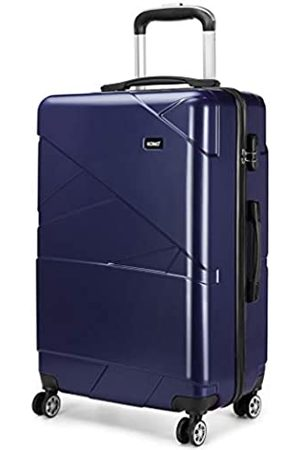 "Kono Carry-on Luggage Lightweight PC Suitcase with 4 Spinner Wheel 39L (20"")"