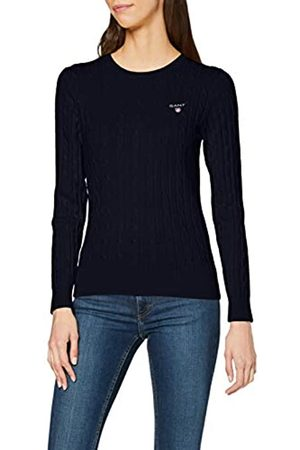 GANT Women's Stretch Cotton Cable Crew Long Sleeve Jumper, (EVENING )