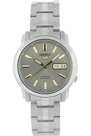 Seiko Mens Analogue Automatic Watch with Stainless Steel Strap SNKK67K1