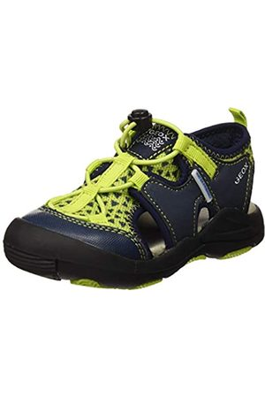 Geox Boys' Jr Kyle B Closed Toe Sandals, (Lime/ C2302)