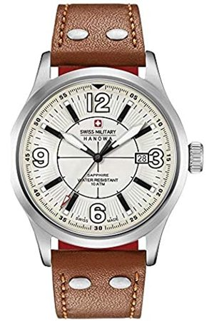 Swiss Military Mens Analogue Classic Quartz Watch with Leather Strap 06-4280.04.002.02.10