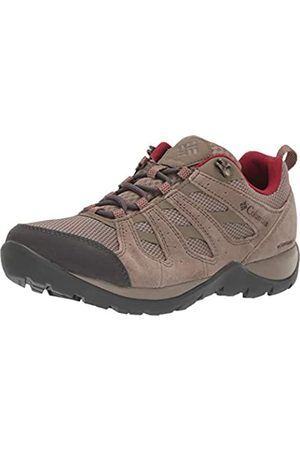 Columbia Women's Redmond V2 Waterproof Hiking Shoe, (Pebble, Beet 227)
