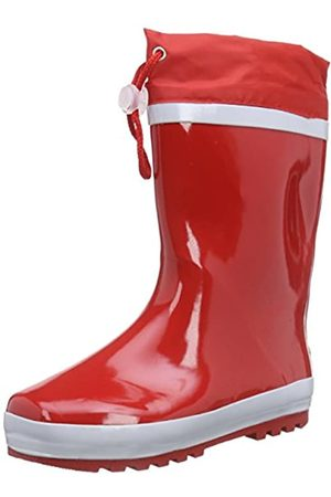 Playshoes Unisex Kid's Lined Rain Boot Wellies Basic Wellington Rubber, (Rot 8)