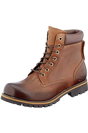Timberland Men's Rugged 6 Inch Plain Toe Waterproof Lace-up Boots, (Md Full Grain)