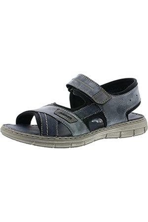 Rieker Men's Frühjahr/Sommer Closed Toe Sandals, (Denim/Ozean/Asphalt/Schwarz 14)