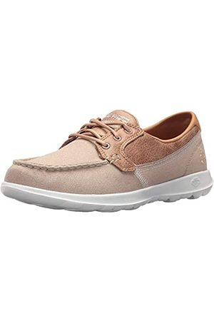 Skechers Women's GO Walk LITE-Coral Boat Shoes, (Natural NAT)