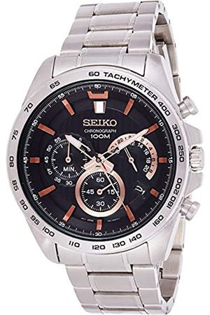 Seiko Mens Chronograph Quartz Watch with Stainless Steel Strap SSB307P1