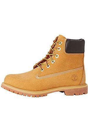 Timberland Women's 6 Inch Premium Waterproof Lace-up Boots, (Wheat Nubuck)
