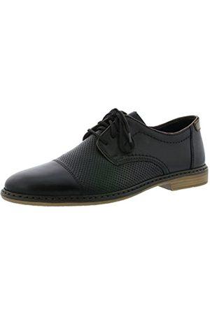 Rieker Mens Shoes 13428 Men's Loafers, Lace-Up Flats, Lace-Up Shoes Brown (Amaretto/Royal/Navy / 24)