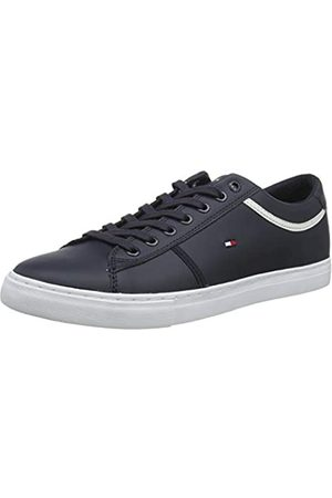 Tommy Hilfiger Men's Essential Leather Sneaker Low-Top, (Desert Sky Dw5)
