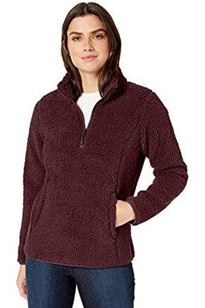 Amazon Essentials Polar Fleece Lined Sherpa Quarter-zip Jacket Burgundy