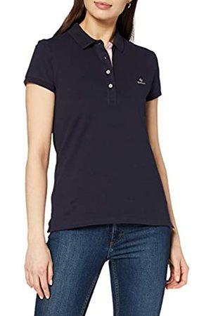 GANT Women's Contrast Collar Pique Ss Rugger Polo Shirt
