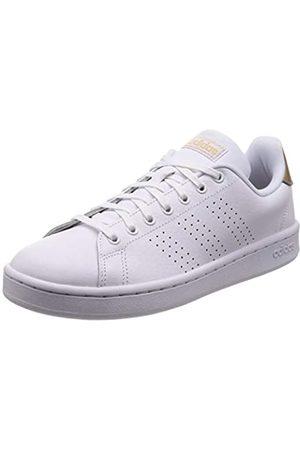 adidas Women's Advantage Fitness Shoes, (Ftwbla/Ftwbla/Cobmet 000)