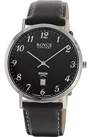 Boccia Mens Chronograph Quartz Watch with Leather Strap 3634-02