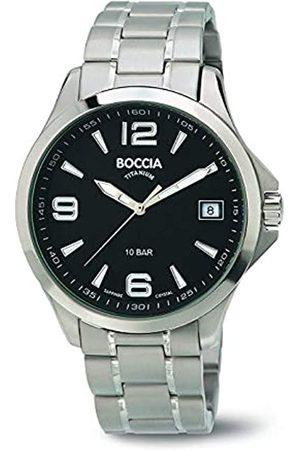 Boccia Men's Quartz Watch with Dial Analogue Display and Titanium Bracelet B3591-02