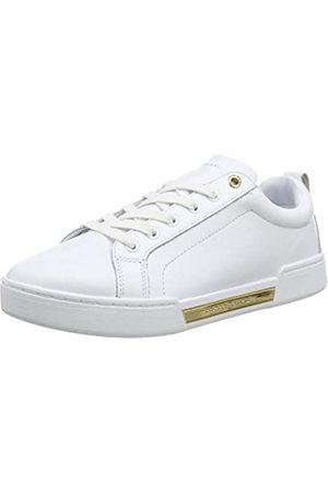 Tommy Hilfiger Women's Outsole Metallic Sneaker Low-Top, ( Ybs)