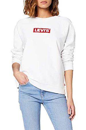 Levi's Women's Relaxed Graphic Crew Sweatshirt, (Crew Box Tab + 0092)