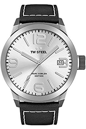 TW steel Mens Analogue Quartz Watch with Leather Strap TWMC24