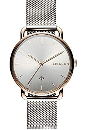 Meller Unisex Adult Analogue Quartz Watch with Stainless Steel Strap W3RP-2SILVER
