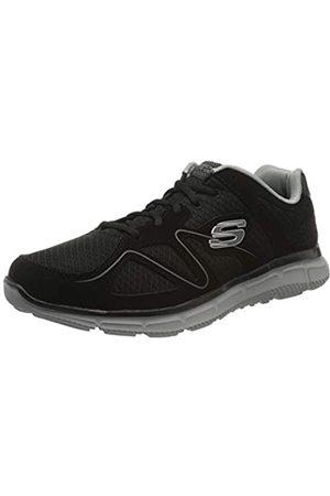 Skechers Men's Satisfaction Low-Top Sneakers, ( 58350-Bkgy)