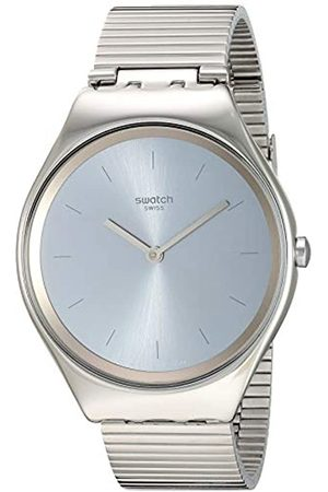 Swatch Unisex Adult Analogue Quartz Watch with Stainless Steel Strap SYXS103GG