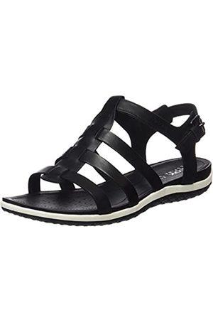 Geox D Sandal Vega a, Women's Wedge Heels Sandals, (Blackc9999)